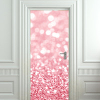 "Door Wall STICKER poster bling glitter rose decole film 30x79""(77x200cm)"