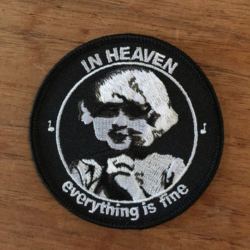 David Lynch Eraserhead themed radiator lady embroidered patch 3""