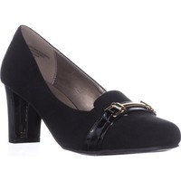 KS35 Penzey Square-Toe Heels, Black, 9 US