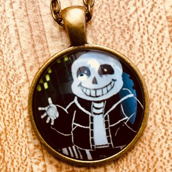 Sans Undertale Cabochon Fashion Necklace