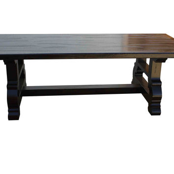Spanish Trestle Dining Table in Reclaimed Wood