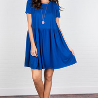 Spend Some Time Dress, Royal Blue