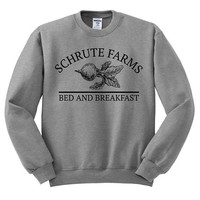 Schrute Farms Sweatshirt Dunder Mifflin Shirt The Office Shirt Dwight Schrute Michael Scott Jim Halpert The Office Sweatshirt