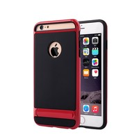 iPhone 6 Matte Hybrid Kickstand Case (Red Black)