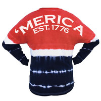 Merica Tie Dye Game Day Jersey