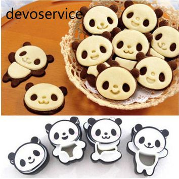Cartoon Panda Cookies Cutter Set Biscuit Candy Mould Fondant Cutters Cake Mold Baking Decorating Tools For Cake Bakeware