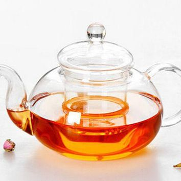 ICIKJG2 1PC NEW 4 Size  Hot Sale Heat Resistant Glass Teapot with Infuser Coffee Tea Leaf Herbal Classic J1010