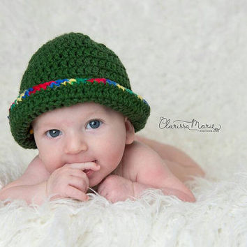 Baby Fisherman Hat, Infant Hat and Tie, Newborn Set, Camping Baby Cap, Children Safari Prop Baby Panama Hat Kids Bucket hat, Banded Baby Hat