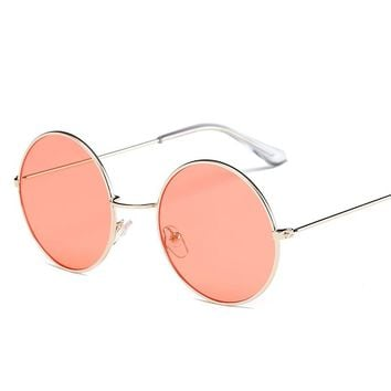 Round Gradient Mirror Shades