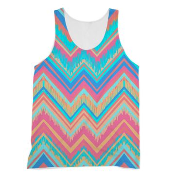 Blue and Pink Chevron American Apparel Sublimation Vest