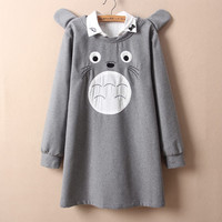 Cute cartoon totoro students pullover