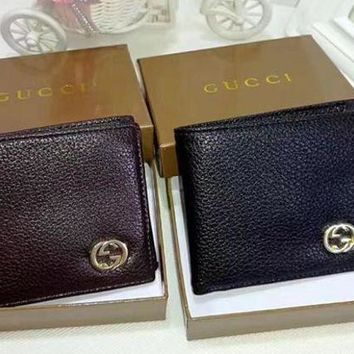 DCCK Gucci Men Leather Purse Wallet2