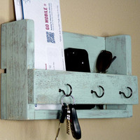 Shabby Chic Key Holder and Mail Organizer