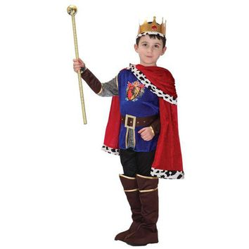 ONETOW MOONIGHT 7 Pcs Hot Sale Halloween Cosplay Costume for Children The King Costumes Children's Day Boys Prince Party Costume