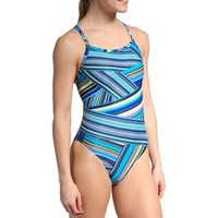 Speedo Rainbow Stripe Flyback at SwimOutlet.com - Free Shipping