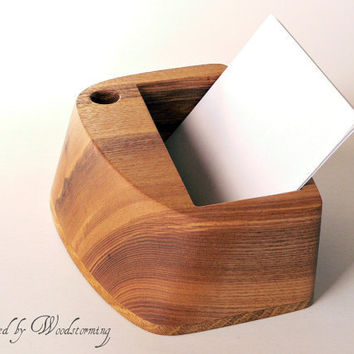 Desk organizer  wooden handmade small  READY TO by Woodstorming