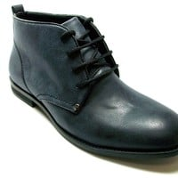 Mens Rocus Ankle High Lace Up Chukka Boots MB-13 Black