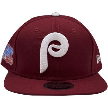 1980 World Series Philadelphia Phillies Vintage Maroon Cooperstown Snapback Hat