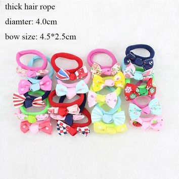 20pcs/lot Baby Girls Hair Accessories Children Kids Infant Hair Clips for Girl Pearl Hairpins Elastic Hair Rope Rubber Bands