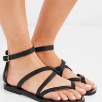 K Jacques St Tropez - Fusain leather sandals
