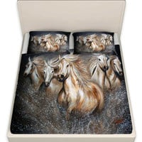 Running WIld Horses Sheets / Bedding - The Symphony- Artwork by Teshia