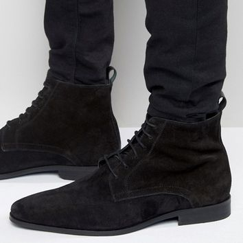 Zign Suede Lace Up Boots at asos.com