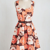 60s Mid-length Sleeveless Biking Through Brussels Dress in Bloom