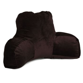 Dark Brown Micro-velvet Reading Pillow