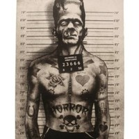 Matte Poster - 12x18 - Tattooed Monster - Too Fast Brand