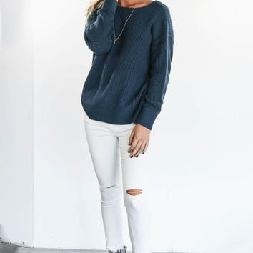 Let You Stay White Ripped Knee Skinny Jean