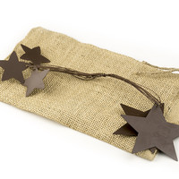 """Rusted Garland With Stars, 48"""""""