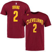 Kyrie Irving Cleveland Cavaliers adidas Net Number T-Shirt – Wine