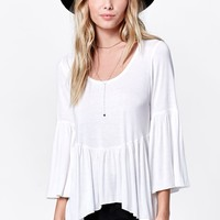 H.I.P. Bell Sleeve Peasant Top - Womens Tee