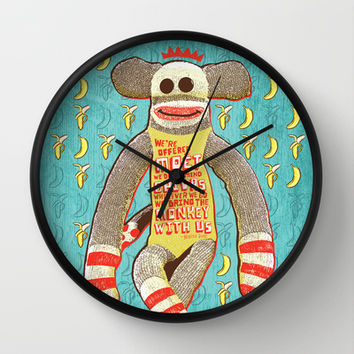 Bring the Monkey Wall Clock by Gigglebox