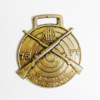 Vintage NRA Medallion: 75 ft .22 Individual Gallery Championship