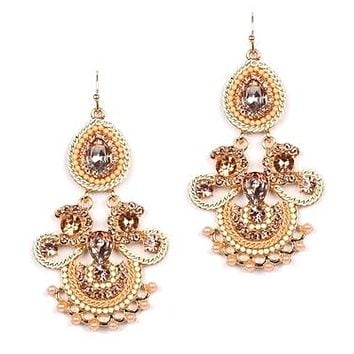 Icing on the Cake Chandelier Earrings with Pink Gems 4365E-PCH-G
