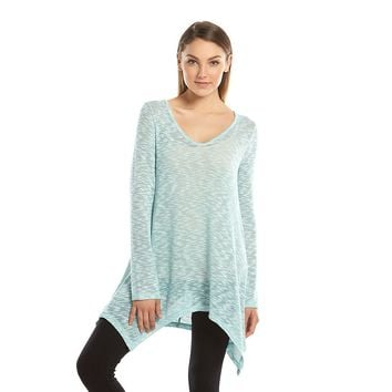 Mudd Knit Sharkbite Tunic Top - Juniors, Size: