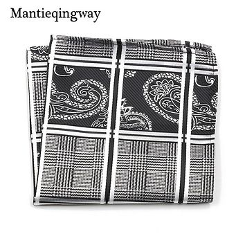 Vintage Paisley Floral Polyester Yarn Chest Towel Pocket Square Hanky Handkerchiefs For Men Suit Hankies Hanky