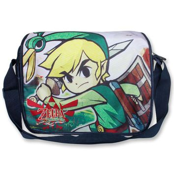 The Adventure of Link Of Anime The Legend of Zelda shoulder bag with colorful printing Type C
