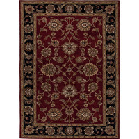 Jaipur Rugs Classic Oriental Pattern Red/Black Wool Area Rug MY08 (Rectangle)