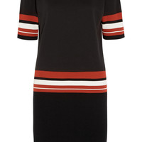 DKNY - Striped French cotton-terry dress
