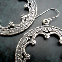 Silver Hoop earrings Moroccan earrings office Jewelry