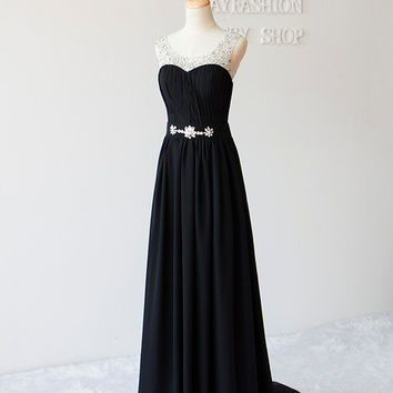 Long Black beaded dress sexy sink a strapless prom dresses 2015 New Fashion party dresses long homecoming dress Cheap evening dress