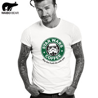 2016 New Star Wars T-shirt Cotton Men T shirt Print Tees Fashion Camisetas Hombre Short Sleeve O-Neck  Funny Male Top WAIBO BEAR