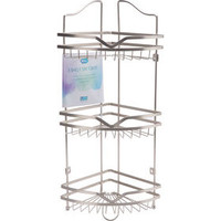 3 TIER MTL BATH CRNER RACK-NIC