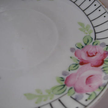 Hand Painted 1940s floral Bread plate Made in Japan by Klassic