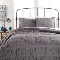 Ruched Stripes Gray 3 Piece Comforter and Duvet Cover Sets | macys.com