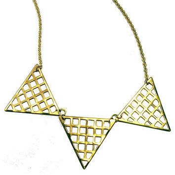 Grid Triangle Necklace by trophies on Etsy