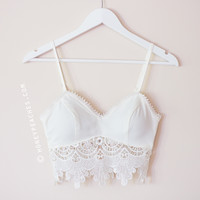 Back In Stock: Summer Nights Crochet Crop Top - White