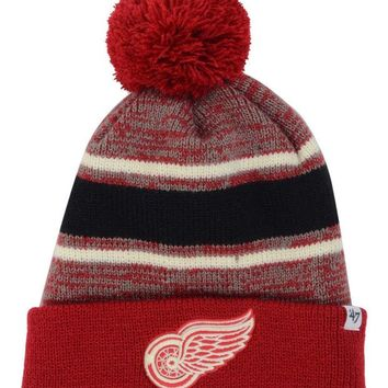 ONETOW NHL Detroit Red Wings Detroit Red Wings Fairfax Pom Knit Hat